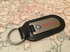 ALFA ROMEO Key Ring Etched and infilled On Leather Gillettta Mito Golia