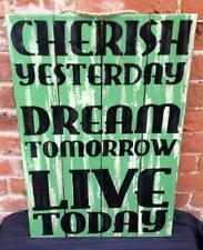 Inspirational Quote Large Wooden Plaque Vintage Wall Hanging Shabby Chic Sign