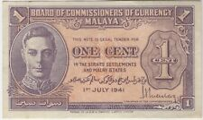 More details for 1941 malaya one cent bank note   pennies2pounds