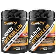 ARGININ + CITRULLIN - 640 Kapseln a 1100mg Hochdosiert Mega-Pump Preworkout