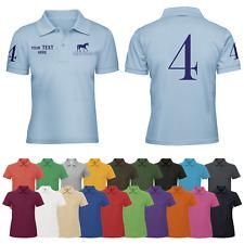 Personalised Ladies Horse Riding Polo Shirt Womens T-shirt Equestrian Show Jump