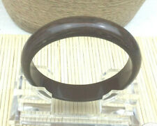 Fashion Bracelet Plastic Brown Swirl Bangle