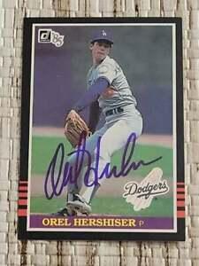 OREL HERSHISER 1985 DONRUSS ROOKIE AUTOGRAPH NFL CARD 100% AUTHENTIC IP/TTM