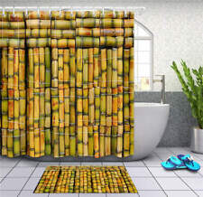 Thick Bamboo Tube Waterproof Bath Polyester Shower Curtain Liner Water Resistant