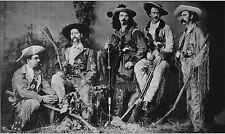 "Wild Bill Hickok & Buffalo Bill Cody & Gun Fighters Western Photo B&W  8"" X 10"""