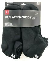 Under Armour Charged Cotton 2.0 LO CUT Socks   6-Pk  Black  U319