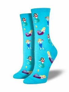 Socksmith Women's Novelty Crew Socks, SSW1276 Mermaids - Blue Lagoon