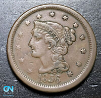 1856 Braided Hair Large Cent --  MAKE US AN OFFER!  #B3673