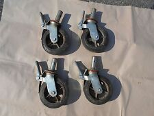 """New listing Set of 4 Hd Industrial Locking Scaffold Casters with 8""""x2"""" Caster Wheel"""