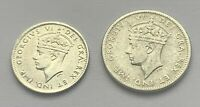 LOT OF TWO 1945 CANADA NEWFOUNDLAND 5 CENT AND 1943 CANADA 10 CENT SILVER COINS