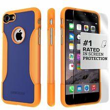 iPhone 7/8+ Case, SaharaCase Protective Kit Bundle anti-slip grip - Blue Orange