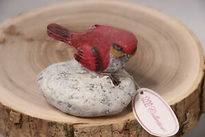 """Collections Stone Small Bird on Rock - 3"""" Tall"""