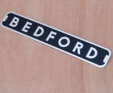BEDFORD BADGE, 12 inch ALLOY PLATE BADGE, TRUCK, VAN, PICKUP, CAMPER, NEW