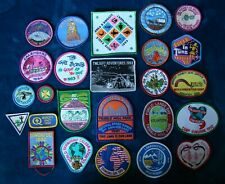 Vintage #2 Lot of 25 Girl Scout Encampment Patches Badges - 1980's & 1990's