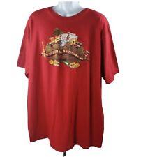 """"""" Monde Voyageur """" T-Shirt St.John's Bay XL T-Shirt Rouge Manches Courtes Coton"""