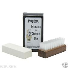 Angelus Suede Nu-buck Bristle Brush Block Cleaning Kit