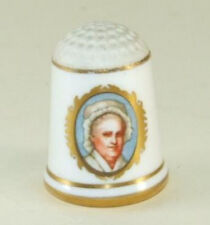 Vintage Franklin Porcelain Thimble 1978 Limited Edition Martha Washington