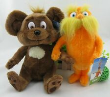 set of 2 Dr. Seuss The Lorax Plush Toy Baby Gift  28cm new