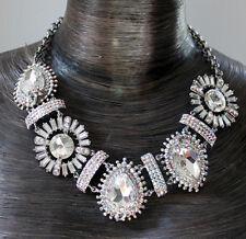 Butler and Wilson 5 Piedra Grande clearab Cristal Art Déco estilo collar babero