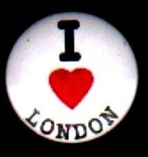 I LOVE LONDON HEART BUTTON PIN  BADGE ,