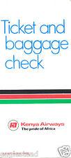 Ticket Jacket - Kenya Airways - White (TJ977)