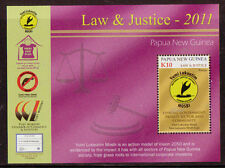 PAPUA NEW GUINEA 2011 LAW AND JUSTICE MINIATURE SHEET UNMOUNTED MINT, MNH