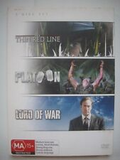 THE THIN RED LINE / PLATOON / LORD OF WAR - DVD 3-Pack - GC