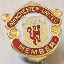 Manchester United Vintage 70s 80s Badge Maker Reeves bham Broche Pin 20mm X 21mm