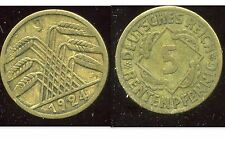 ALLEMAGNE 5  rentenpfennig  1924 J ( bis )