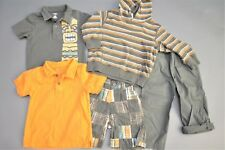 Gymboree Boys Green Orange Shirt, Shorts, and Pants Tiki Chief Lot of 5 Size 2T
