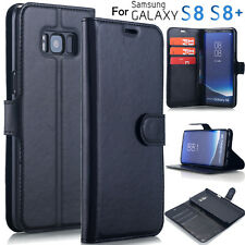 Leather Flip Wallet Cover Case Folio Pouch Stand F Samsung Galaxy S8+ / S8 Plus