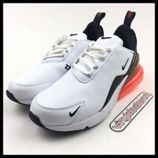 Nike Air Max 270 PRM Leather White Black Hyper Crimson Mens Size 7 BQ6171-100
