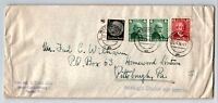 Germany SC# B72 Pair & B74 on Olympic Cover to USA / Ends Creasing - Z13311
