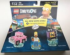 Lego Dimensions The Simpsons Level Pack 98 Pcs New Level 71202