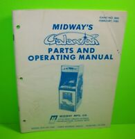 Galaxian Original 1980 Video Arcade Game Operating Service Parts Manual Midway