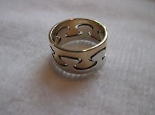 14K Yellow Gold & Sterling Silver Ed Levin Interlocking Puzzle Ring Size
