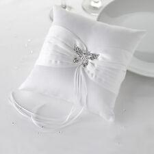 Ringkissen aus Satin für die Hochzeit 'Schmetterling' weiß
