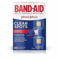 Band-Aid Brand Adhesive Bandages Clear Spots 50 Count