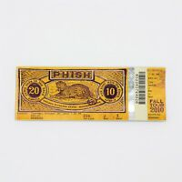 Phish Ticket  Manchester New Hampshire NH October 26, 2010 New Fall Tour 2010