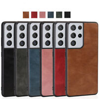Luxury PU Leather Back Case For Samsung S21 Ultra S21 Plus 5G Hybrid Slim Cover