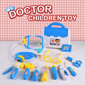 Kids Doctor Nurse Toy Set Medical Kit Children Role Play Pretend Game Carry Case