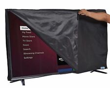 32'' Flat Screen TV - Clear Transparent Waterproof OUTDOOR TV Black Cover, Fits