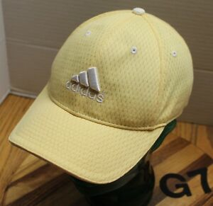 YELLOW GIRLS YOUTH ADIDAS HAT STRAPBACK ADJUSTABLE EMBROIDERED EXCELLENT COND G7
