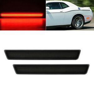 For 2015-2021 Dodge Challenger LED Rear Bumper Side Marker Lights Smoke Lens 2x