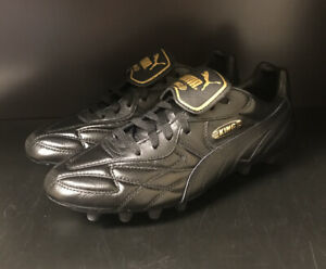 Puma King Top K Di Fg Soccer Cleats - Black/Gold - Multiple Sizes - New In Box