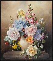 Roses and Primulas - Chart Counted Cross Stitch Pattern Needlework Xstitch craft