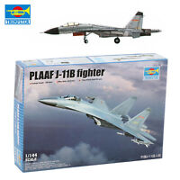 Chinese PLAAF J-11B Fighter Assemble Model Trumpeter 03915 1/144