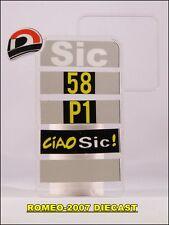 1:12 Pit board - pitboards Marco Simoncelli 58 Ciao Sic no minichamps RARE NEW