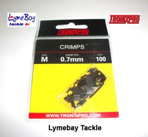 Tronixpro Crimps Qty 100, Rig Crimps, Line Crimps, Snood Crimps, Medium or Large