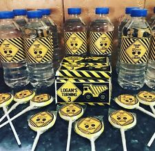 10 X Construction Adhesive Bottle Labels Water Resistant 9.6cm X 5cm